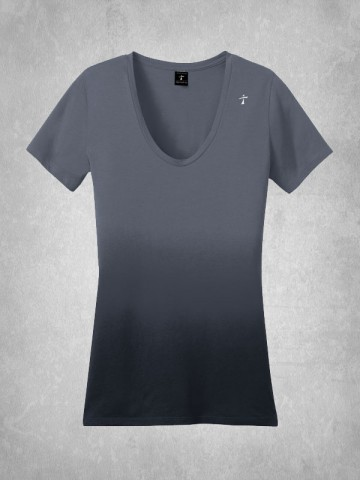 Two Tone V-Neck Tee