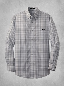 Crosshatch Plaid Shirt - Charcoal