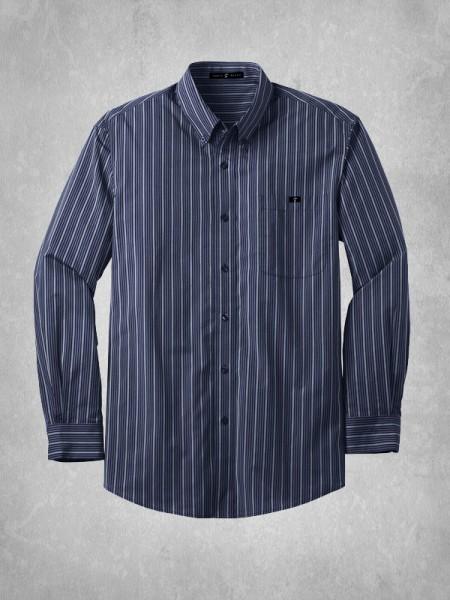Men 39 s vertical stripe dress shirt for Vertical striped dress shirt