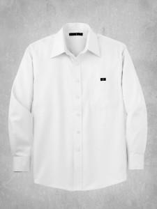 Non-Iron Twill Dress Shirt- White