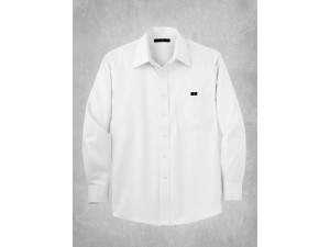 Non-Iron Twill Dress Shirt- White