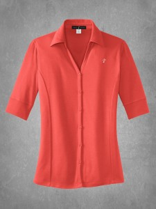 Ladies Button-Front Polo