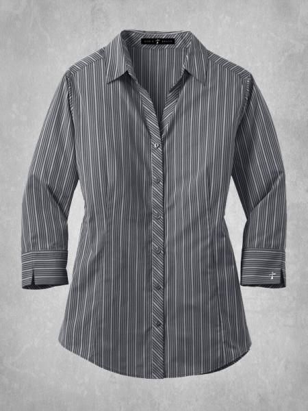 Ladies vertical stripe dress shirt for Vertical striped dress shirt