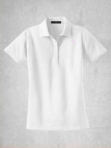 Ladies Horizontal Stripe Polo