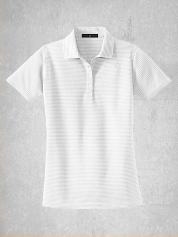 Ladies Horizontal Stripe Polo